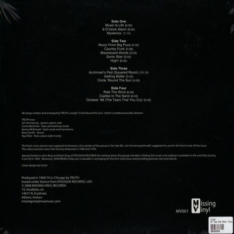 TRUTH of them and other tales Lp (back)